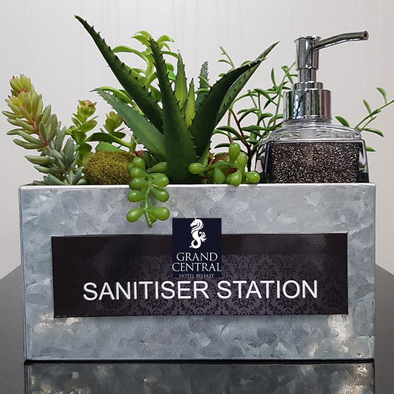 sanitiser stations
